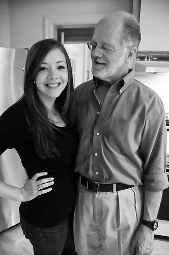 me and dad bday