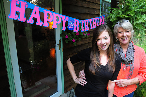 me and mom bday