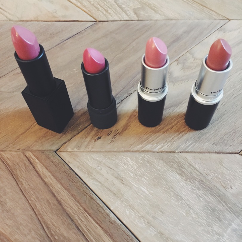 Picture of neutral colored lipsticks